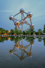 The Atomium (Nasbe Photography) Tags: longexposure brussels lake belgium belgique lac bruxelles reflet reflexions atomium dri longexposition poselongue