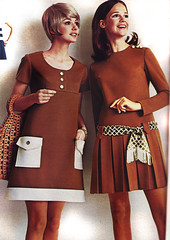Pennys 70 fw brown dresses (jsbuttons) Tags: brown clothing dress buttons womens clothes 70s catalog 1970 seventies 70 pennys pleated jcpenny vintagefashion