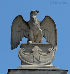 Eagle to represent Napoleon (eutouring) Tags: travel sculpture paris france bird statue stone eagle palaisdejustice n statues napoleon bonaparte sculptures