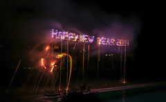 New Years Eve at Talalla Retreat (nicsti) Tags: new party pool fog fire fireworks smoke year letters celebration lanka newyearseve letter srilanka rockets happynewyear