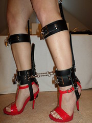 Can't Run Away While Confined in These Devices (KAFOmaker) Tags: sexy feet leather foot shoe high shoes lock sandals platform bondage ring chain strap heels heel cuff buckle locked straps sandal cuffs platforms locking restraints restraint cuffed strapped strapping buckled cuffing
