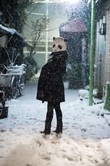 Panda in snow at Ginza (mijabi) Tags: snow animal japan eos tokyo ginza panda mask 日本 東京 銀座 snowing masked 雪 動物 6d パンダ carlzeiss 大雪 carlzeissjena マスク eos6d 被り物 カール・ツァイス・イエナ カールツァイスイエナ