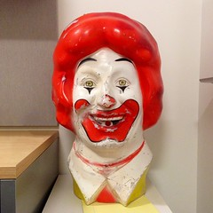 Clowning Around #ronaldmcdonald #mcdonalds #head #scary #mascot