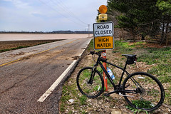 End of the Line (djh644) Tags: bike bicycle flooding sony roadclosed riverbottoms rx100m2