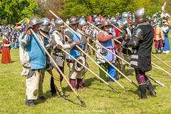 [2014-04-19@15.20.52a] (Untempered Photography) Tags: history costume helmet battle medieval weapon knight shield armour reenactment combatant chainmail spear canonef50mmf14 perioddress polearm platearmour gambeson poleweapon mailarmour untemperedeye canoneos5dmkiii untemperedeyephotography glastonburymedievalfayre2014