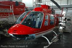 HB-XLA seen here at Bern-Belp during the 12th of October 2007. (Frank Vorwerk/ HTDI-INT.com) Tags: 3 bell helicopter agusta jetranger bernbelp ab206b hbxla