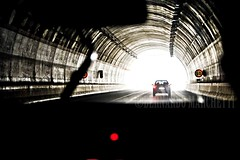 afterlife (Bernardo Marchetti) Tags: light white cars fog highway gallery tunnel end calabria 60 salerno reggio afterife