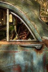 Bilkyrkogården_12 (jonas400d) Tags: car rust junkyard hdr biler skrot skov photomatrix bilkyrkogården kyrkömosse tamron2470mm