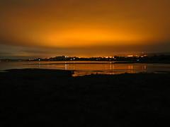 Naranja (Sofibird ~) Tags: luces noche cielo naranja chilo humedal putemn
