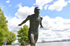 Mr. Jerome (joshoowah_007) Tags: canada monument statue vancouver bc harry jerome stanleypark tribute olympic athlete runner sprinter nikon1j3
