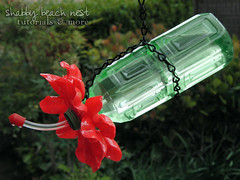 Plastic Spoon & Bottle Hummingbird Feeder (irecyclart) Tags: flowers diy recycled spoon feeders tutorial repurposed upcycled