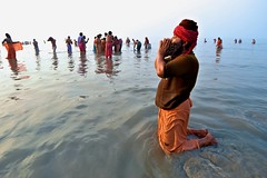 Gangasagar Mela 2015..... Candid Moments (pallab seth) Tags: morning sunset portrait people india beach face festival asian religious nikon women asia outdoor candid indian religion culture tradition bathing custom devotee hindu hinduism bengal pilgrimage pilgrim ganga ganges mela sagar bayofbengal 2015 peopleoftheworld gangasagar holydip gangasagarmela