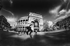 Teatro Garibaldi (Politeama). Skaters. (Giulio Di Gregorio) Tags: teatro strada skaters shooting palermo politeama