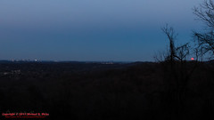 Full Moon at Percy Warner Park - February 3, 2015 (mikerhicks) Tags: sunset usa skyline geotagged unitedstates nashville hiking tennessee fullmoon warnerparks lukeleaheights vaughnsgap canon7dmkii sigma18250mmf3563dcmacrooshsm geo:lat=3607762833 geo:lon=8687637333