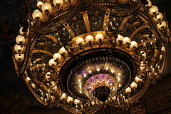 Chandelier (Clare Herondale) Tags: paris france love photography eos lights luces photo cool nice opera europa europe colours foto purple picture chandelier garnier francia lmpara georgeus 1100d