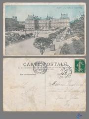 PARIS - Le Jardin du Luxembourg (bDom) Tags: paris 1900 oldpostcard cartepostale bdom