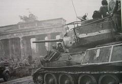 T-34-85 Soviet tank in Berlin.