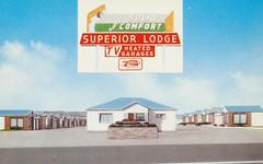 Superior Lodge - Laramie, Wyoming (The Cardboard America Archives) Tags: sign vintage postcard superior motel lodge wyoming laramie lincolnhighways