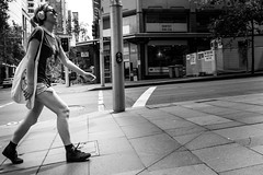 In my own space (Vincent Albanese) Tags: street summer people bw eye fuji candid sydney inspired streetphotography australia newsouthwales fujifilm lightroom xpro1 xk27mm