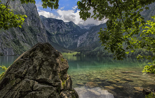 Obersee in the Nationalpark Berchtesgaden