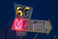66 Motel (Aztravelgrl (Forgotten Places Photography)) Tags: california longexposure nightphotography usa lightpainting us lowlight route66 unitedstates abandon needles vintagesigns vintageneon