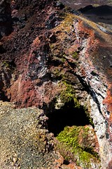 A colorful cascade into the depths (Spencer Cooke) Tags: plants southamerica nature beautiful rock canon outdoors volcano ecuador colorful gorgeous crater ultrawide galapagosislands isabelaisland islaisabela spencerthecookephotography vulcanchico