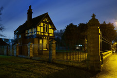 The Entrance To Dartmouth Park, Beeches Road, West Bromwich 20/02/2016 (Gary S. Crutchley) Tags: road park street uk travel school england urban black west heritage history st night dark ed evening town george nikon long exposure king raw slow nightscape shot nightshot image time britain united country great kingdom s philips v shutter after local nightphoto af nikkor townscape staffordshire dartmouth westmidlands rd midlands a41 d800 beeches blackcountry staffs bromwich 1635mm nightimage sandwell nightphotograph f40g