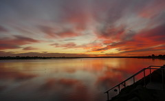 Red Sky at Night... (The Pocket Rocket) Tags: sunset reflections australia victoria redsky ♡ oceangrove barwonriver explore235