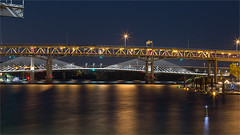 THE MARQUAM BRIDGE-51182- (Terry Frederic) Tags: longexposure usa night oregon photoshop portland bridges rivers willametteriver riverscape canon5dmkiii terryfrederic topazadjust5processed topazdenoiseprocessed lightroom65processed