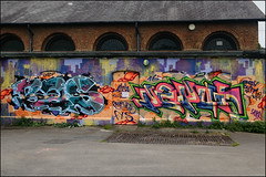 Bas / Depot (Alex Ellison) Tags: urban graffiti boobs depot halloffame graff bas hof northlondon markfieldpark southtottenham