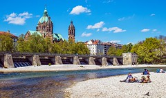photo walk Munich (werner boehm *) Tags: fluss isar lukaskirche wernerboehm