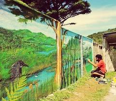 Rutas interiores (Felipe Smides) Tags: naturaleza mural sur niebla pintor pintura valdivia muralismo wallmapu smides felipesmides