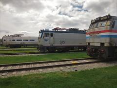 Amtrak Electrics (CrispyBassist) Tags: railroad train pennsylvania railway amtrak locomotive e60 metroliner aem7 pennsylvaniarailroad electriclocomotive railroadmuseumofpennsylvania