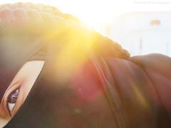 Morning light. (MaryPoppins__) Tags: morning portrait sun sunlight selfportrait sunshine photoshop canon myself photography golden soleil glare photoshoot muslim powershot lass teen gal conceptual goldenhour niqabi myphotography conceptualportrait conceptualselfportrait teensonflickr maryamb