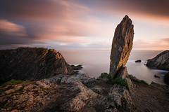 The Megalith I (Tony N.) Tags: france britanny bretagne finistre saintmathieu megalithe megalith rocks rochers falaises cliffs sea mer nuages clouds spot photographers poselongue longexposure d810 nikkor1635f4 vanguard nd110 bw