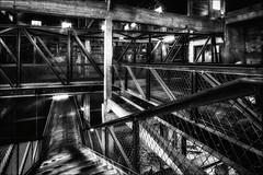 A la croise des passerelles (Explore) (vedebe) Tags: camp bw monochrome noiretblanc aixenprovence nb prison tuileries provence usine escaliers netb lesmilles internement