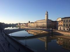 Pisa reflections (markshephard800) Tags: city morning bridge urban italy tower reflections river am italia torre pisa tuscany toscana italie