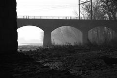 Forgotten Space (mcohen123) Tags: bridge bw trenton morrisville tonal