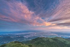 taipei () Tags: sunset sky cloud mountain color taiwan taipei