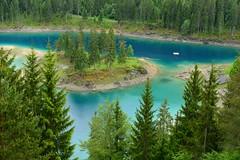 Caumasee im Regen (balu51) Tags: juni see sommer grn blau bergsee regen flims wanderung trkis 2016 graubnden caumasee surselva copyrightbybalu51