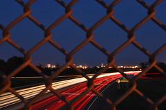 Eastbound & Down (seanbeebe_photo) Tags: longexposure fence newjersey highway nj atlanticcity expressway acskyline