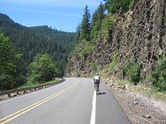 Kevin rides ahead as we wind our way back to civilization (Tysasi) Tags: permanent brevet 200k randonneuring or224 portlandripplebrookportland