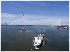 QF Ferry (The Anti-Sharpness League) Tags: jadmor olympus queensferry crossing forth road bridge dunfermline fife cable stayed