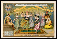 Liebig Tradecard S620 - National Dances, Turkey (cigcardpix) Tags: tradecards advertising ephemera vintage liebig chromo dancing