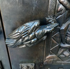 Door handle at Grace Cathedral (JoeGarity) Tags: sanfrancisco sculpture doorhandle gracecathedral