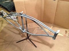 Priming (The Mac 3) Tags: bike sand mod paint engine kit 1960s modification install flyinghorse bicylce 2stroke beachcruiser rollfast