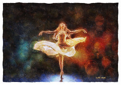 Sensuous dance (Leo Bar) Tags: ballet art texture colors painting dance artwork ballerina danza digitalart creative emotional awardtree pixinmotion