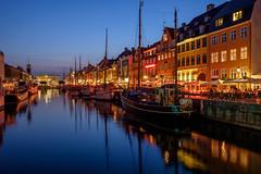 Nyhavn (Ulrich J) Tags: reflection night copenhagen denmark nyhavn cityscape danmark kbenhavn aften byrum spejling