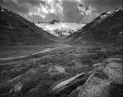 Heading toward the Groeledkees glacier, Ankogel, Austria (Black and White Analog Landscape Photography) Tags: mountains nature landscape austria fuji analogue wilderness paesaggio acros mamiya7ii