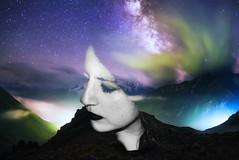 Espacio temporal (Cark Flowers) Tags: portrait selfportrait girl photography nikon photographer universe photshop